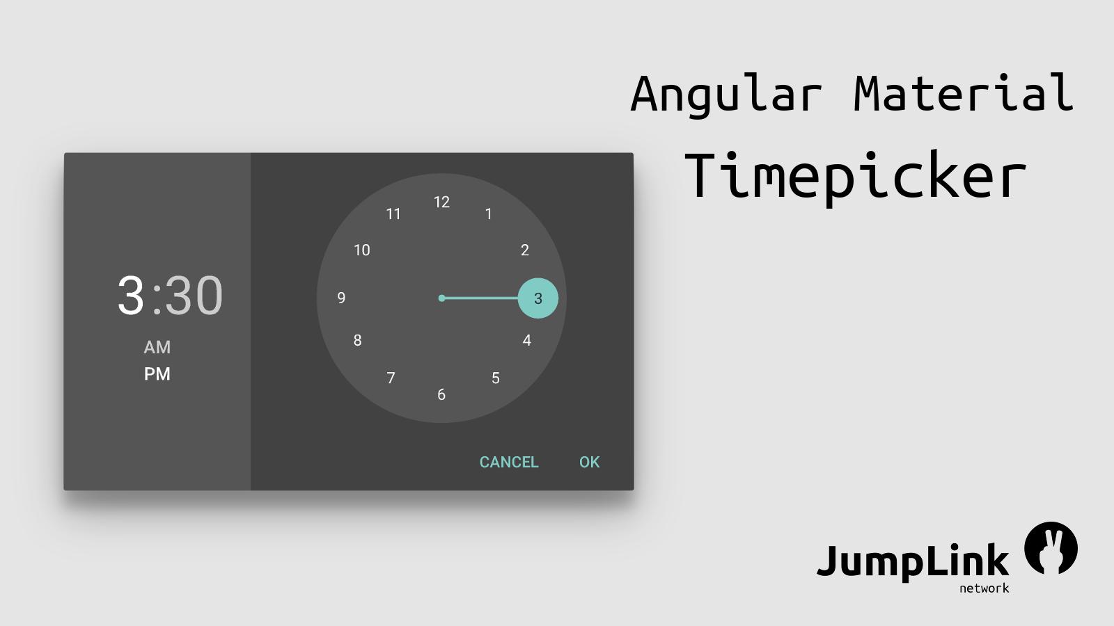 JumpLink network Angular 2: Timepicker im Material Design